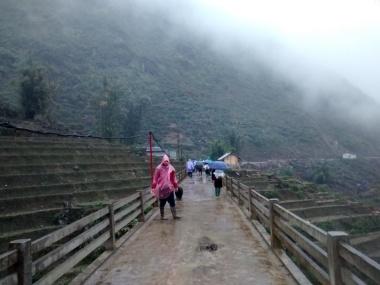 Trekking con lluvia en Sapa