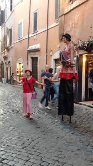 Arte callejero en Trastevere